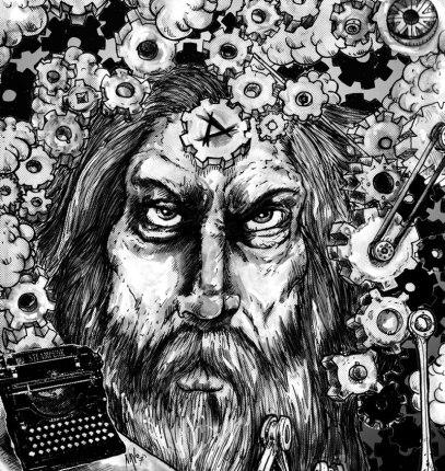 Alan Moore Portrait for Interview
