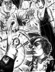 Steampunk Magazine Illustration