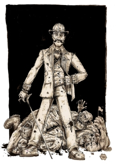 Batitsu - Steampunk Magazine Illustration