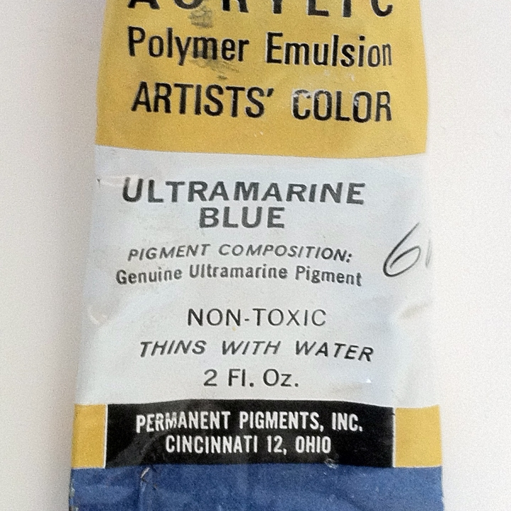 LiquiteX Arcylic - Ultramarine Blue - I love the old hand pulled screen printed packaging on these, with the use of Future again
