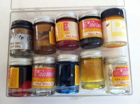 Paints I found in storage. Now long dried out, I still love the typography and the look of these little bottle