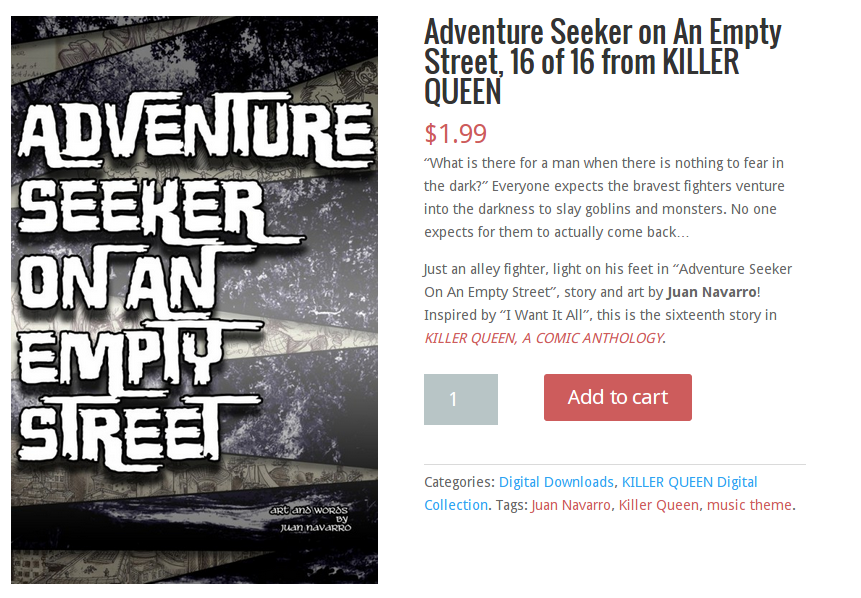 Adventure Seeker on An Empty Street, 16 of 16 from KILLER QUEEN - Red Stylo.clipular
