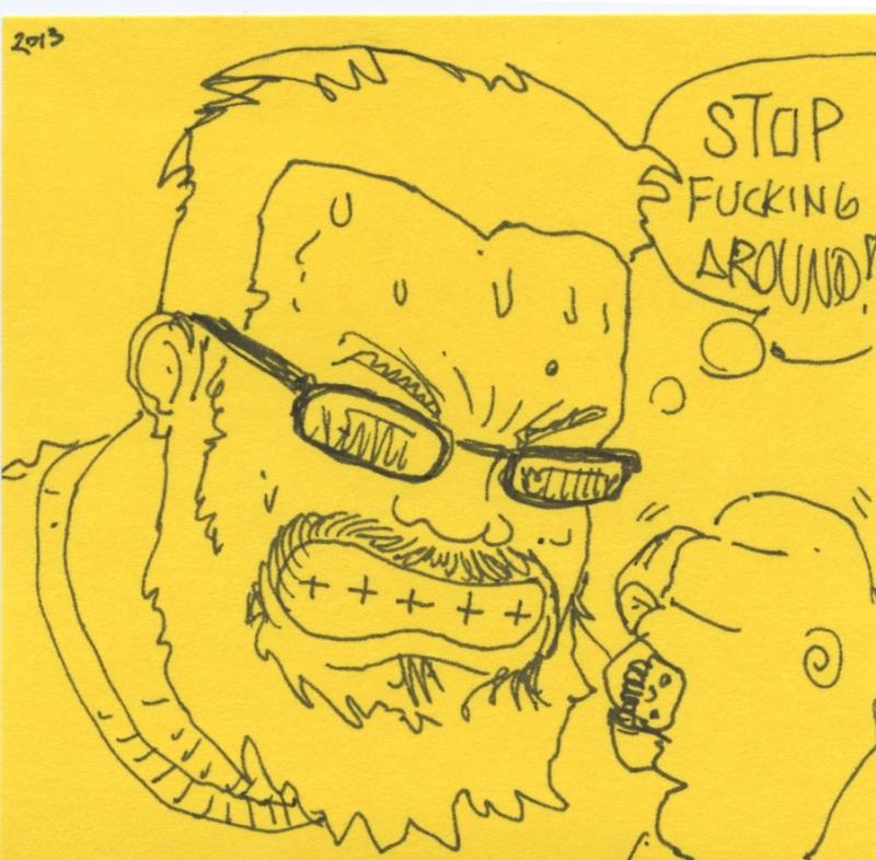 FWACATA Sketchbook 2013 Selfie