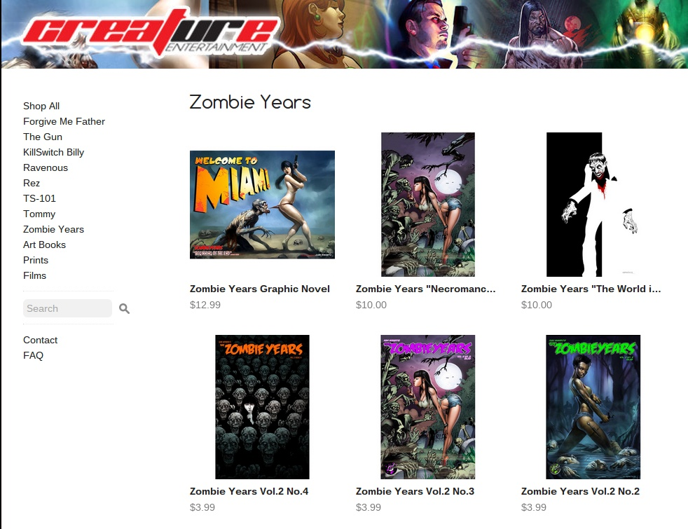Zombie Years · Creature Entertainment · Online Store Powered by Storenvy.clipular