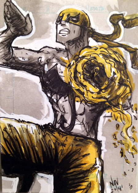 Iron Fist Sketch Card