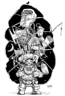 QAGS fantasy interior book illustrations
