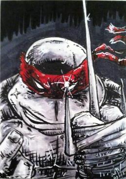 TMNT Raphael Sketch card