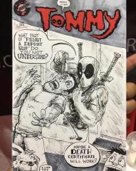 Deadpool Tommy Sketchcover