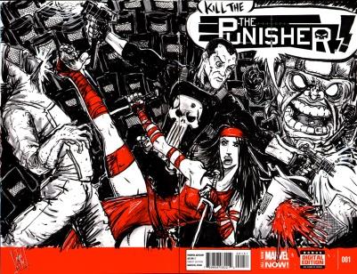 PUNISHER/ELEKTRA vs. MODOK & The Hand