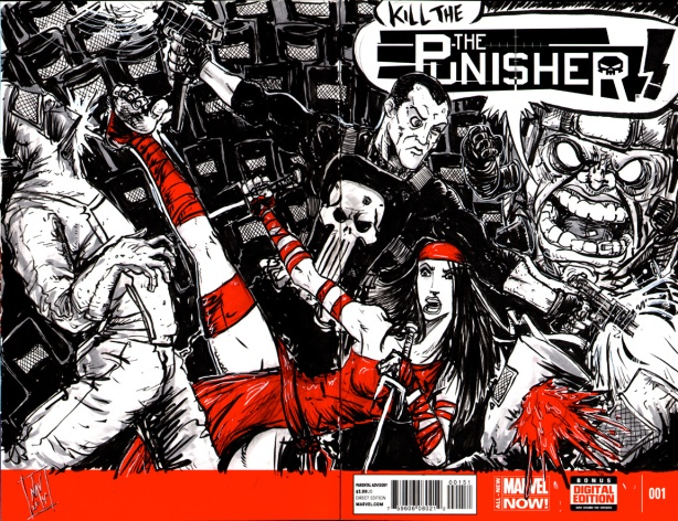 PUNISHER/ELEKTRA vs. MODOK & The Hand