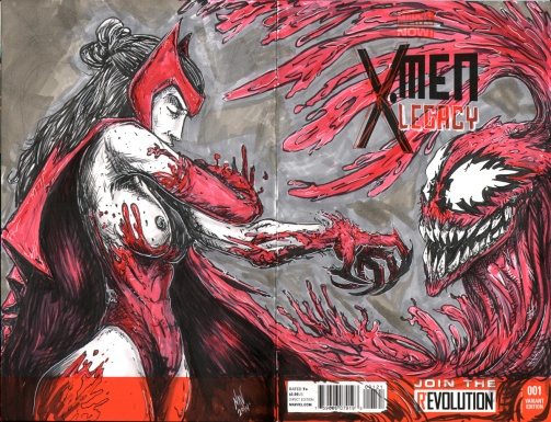 Scarlet Witch (NUDE) versus Carnage