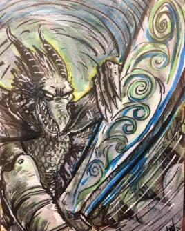 RPG character sketch card
