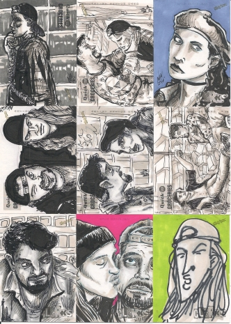 CLERKS SKETCH CARD cluster scan 1