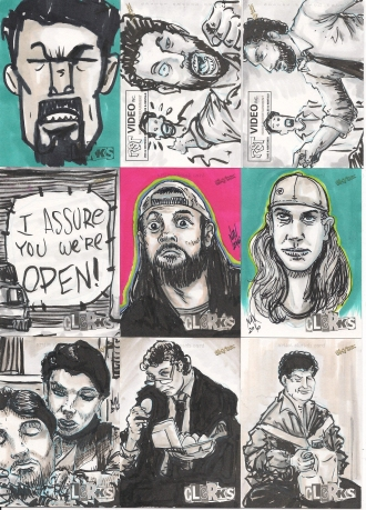 CLERKS SKETCH CARD cluster scan 2