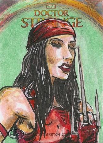 Juan Navarro Upperdeck Dr Strange Cards 001 - Elektra