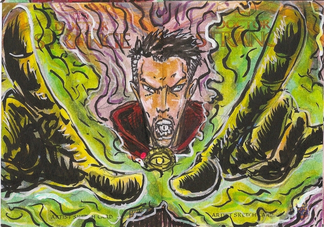 Juan Navarro Upperdeck Dr Strange Cards 005 - 6 - Doctor Strange