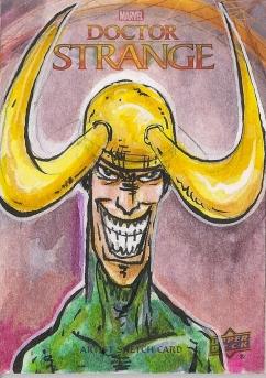 Juan Navarro Upperdeck Dr Strange Cards 007 - Loki