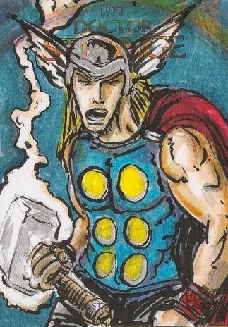 Juan Navarro Upperdeck Dr Strange Cards 008 - Thor