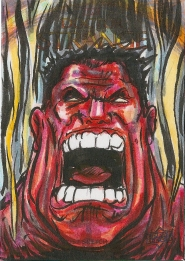Juan Navarro Upperdeck Dr Strange Cards 020 - Red Hulk