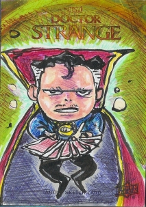 Juan Navarro Upperdeck Dr Strange Cards 030 - Dr Strange pick a card