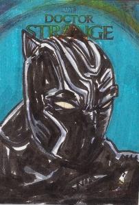 Juan Navarro Upperdeck Dr Strange Cards 034 - Black Panther