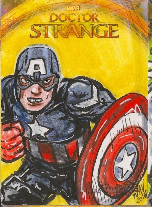Juan Navarro Upperdeck Dr Strange Cards 037 - Captain America
