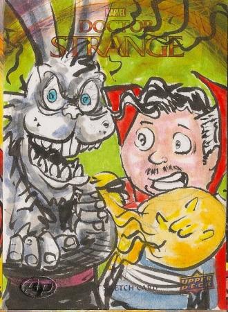 Juan Navarro Upperdeck Dr Strange Cards 038 - Dr Strange Hat trick